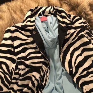 Vintage Anne Klein 2 Reversible Jacket in Zebra